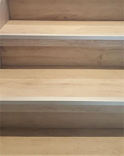 Een trap bekleden met PVC